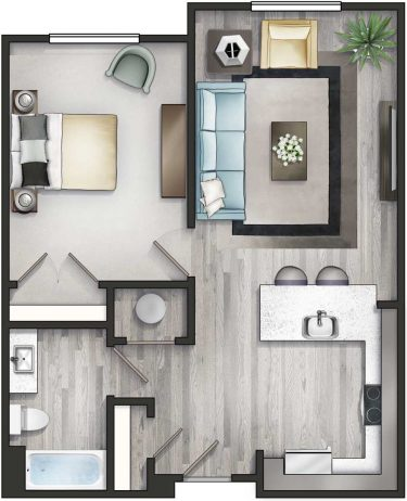 Apartment 1A Floor Plan